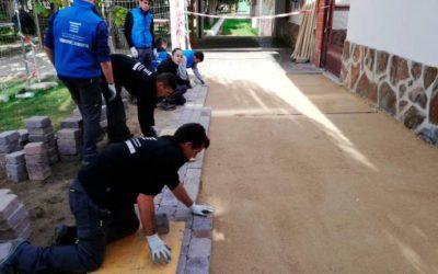 El programa de formación y empleo mejora la accesibilidad de uno de los puntos más transitados de Rágama