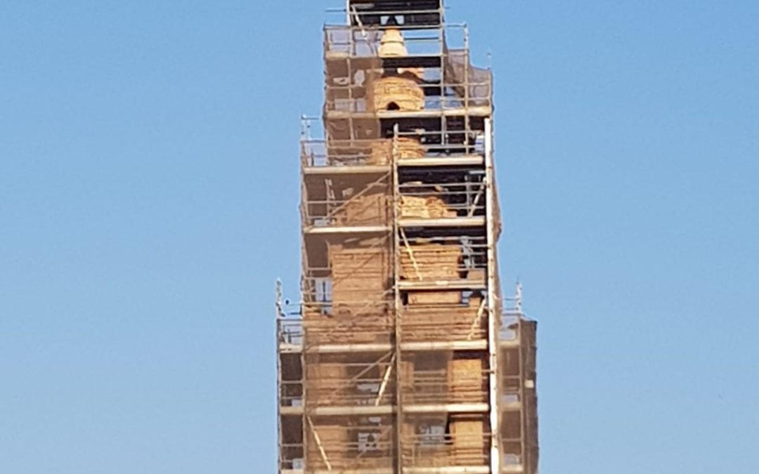 La Junta restaura la torre de la iglesia de Rágama